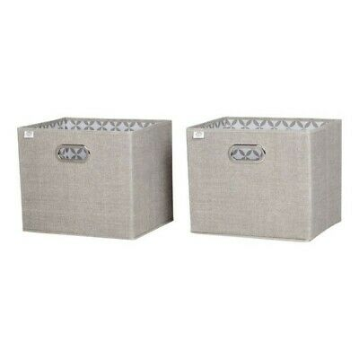 South Shore Storit Chambray Fabric Storage Baskets (Set of 2)
