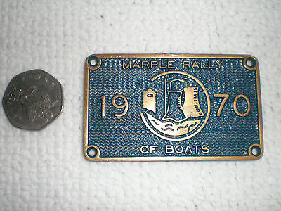 Marple Rally Of Boats 1970 Canal Plaque Iwa