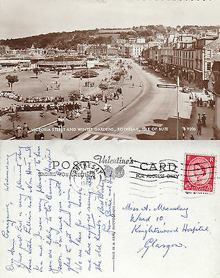 1962 Victoria Street & Winter Gardens Rothesay Argyle & Bute Real Photo Postcard