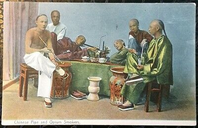 Vintage Chinese Post Cards - Chinese Pipe and Opium Smokers.(Lot 70).