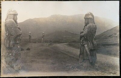 Vintage Chinese Post Cards - Chinese Guard Statues.(Lot 74).