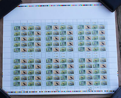 1999 Bird 46 cent stamps signed full sheet mint in original package w receipt