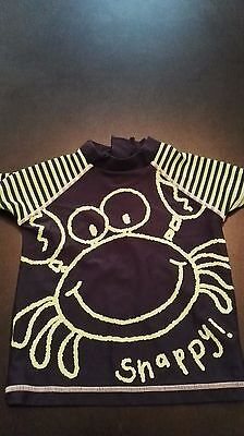 lovely boys next crab swimming top age 12-18 months