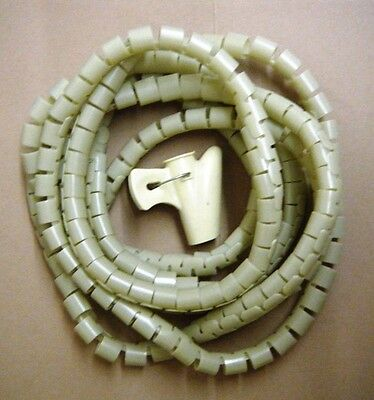 Cable & Wire Organizer Coiled Tube Tie Cord Hide Wire 3 Meters  -Ivory-