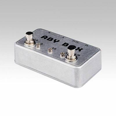 New-Hand-made-ABY-Switch-Box-For-Effects-Pedal-TRUE-BYPASS-Amp-guitar-AB