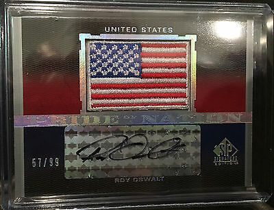 2012 SP Signatures Pride of the Nation Autograph Card - Roy Oswalt