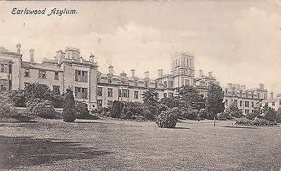 Earlswood Asylum, Redhill, Surrey, old postcard, posted 1904