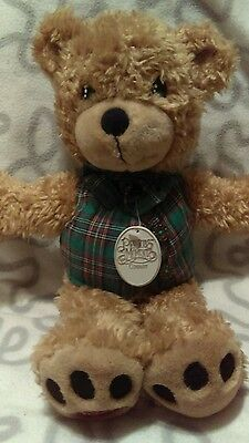 """Precious Moments Country Teddy Bear plush Green Vest with Bowtie 16"""""""