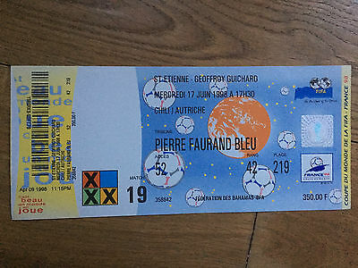 TICKET 1998 World Cup Chile v Austria Match 19  MINT / Unused