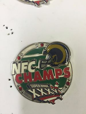 Official NFL Super bowl XXXVI 36 St Louis Rams NFC Champions Pin Badge