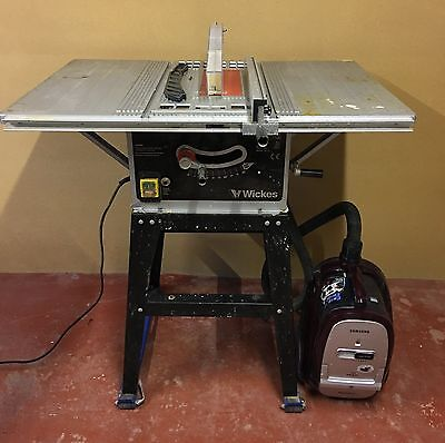 Wickes 1500w Table Saw 230V 254mm and vacuum