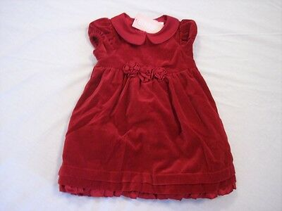 NWT Girl's Gymboree Christmas Holiday red short sleeve dress ~ 12-18 months