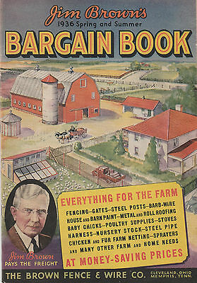 Jim Brown's Bargain Book Catalog 1936 Spring Summer Fence Wire Company