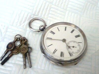 Vintage;chester;1889;chunky Heavy;gents;solid Silver Pocket Watch;h,m;