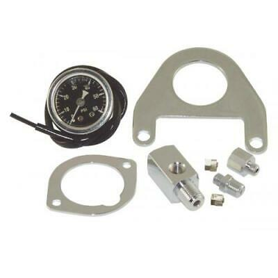 Mid USA Oil Pressure Gauge Kit w/ Mount for Harley Twin Cam Models