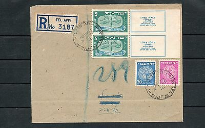 Israel 1948 New Year Pair of Tabs All Horizontal Perfs Missing on Cover!!