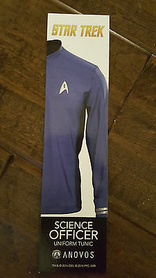 2016 Sdcc Comic Con Anovos Star Trek Science Officer Blue Tunic Promo Card