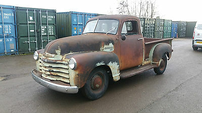 1952 Chevrolet 5 Window 3100 1/2 ton Pick Up Truck, Awesome Patina Chevy