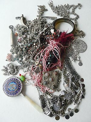 Job lot vintage ethnic & other jewellery low grade silver Chinese mirror Lots!
