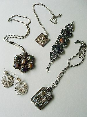 Job lot vintage ethnic jewellery from the 1970s.