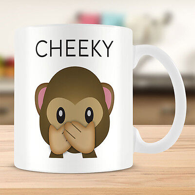 Official Licensed Product Emoji Coffee Mug Cheeky Monkey Cup Coffee Tea Gift New