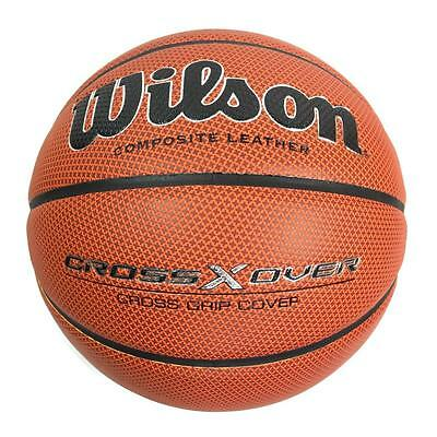 Wilson Cross X Over High Composite Leather Basketball - Size 7 - RRP £34.99