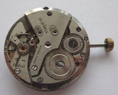 Vintage Mechanical Watch Movement AS 1430  working condition parts