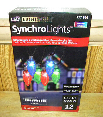 2 Sets Gemmy Lightshow Synchro Christmas Led Pathway