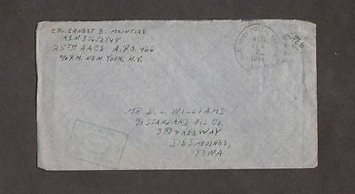 US 1944 'Passed by Army Examiner' World War ll Cover