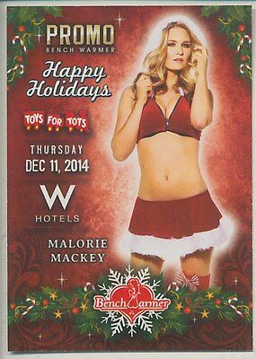 Malorie Mackey  * 2016 Benchwarmer * 2014 Toys For Tots  Promo * Playboy * Hot