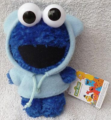 FURYU Sesame Street Workshop Elmo Cookie Monster Hoodie Soft Plush Toy Japan 7""