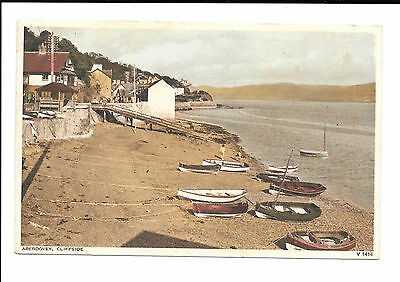 ABERDOVEY - CLIFFSIDE - OLD 1950's POSTMARK POSTCARD - MERIONETHSHIRE WALES