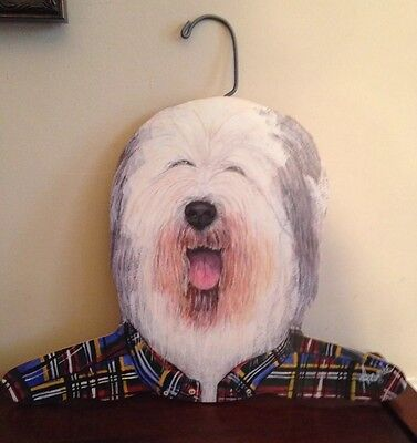 Clothes Hanger Old English Sheepdog Annie Stupell