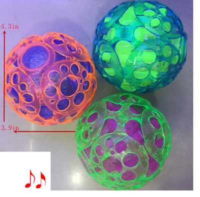 LED Jumping Fusion Ball Dancing Vibrating Flashing Blinking Toy Light Up Party