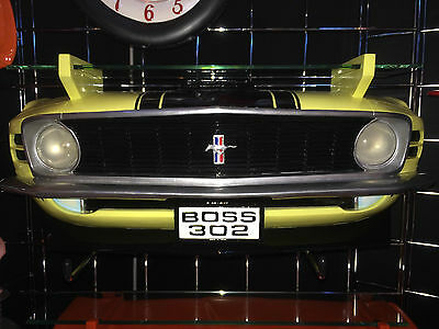 1970 Ford Boss 302 Mustang Resin Wall Shelf, Yellow with WORKING LIGHTS
