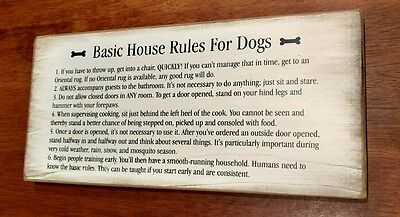 House rules for Dogs - pet owner decor - wooden plaque for dog lovers