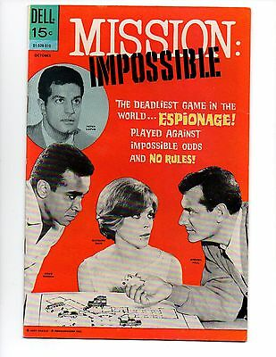 """Mission: Impossible #5 (Oct 1969, Dell) FN/VF 7.0 """"REPRINTS #1; TOP LOADER"""""""