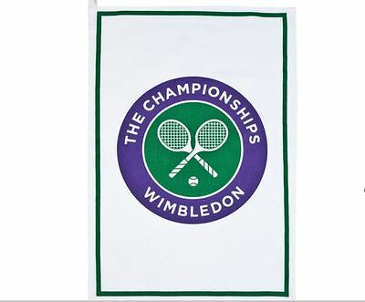 Wimbledon The Championship Official White Tea Towel Brand New Sealed