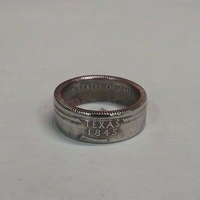 Texas State Quarter Coin Ring Handmade   Size 6   Sizes   (5-12)  *13