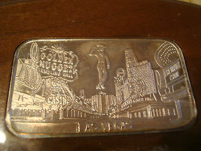 Downtown Las Vegas Sterling Silver Freemont Street Design Plaque