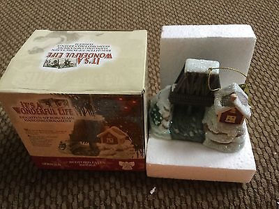 RARE Open Box Enesco It's A Wonderful Life BEDFORD FALLS BRIDGE Lighted Ornament