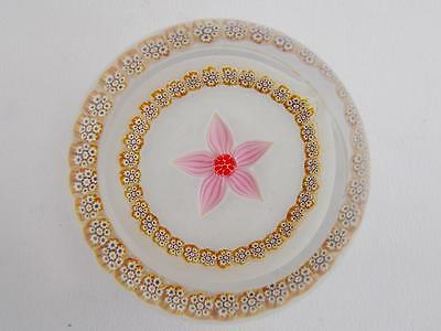 Caithness 24/75 Limited Edition Millefiori Florals Pink Glass Paperweight Signed