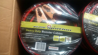 HeavyDuty Car Van Battery Jump Start Leads 400amp 3Metres Long Booster Cables UK