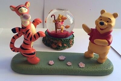 Winnie the Pooh and Tigger Disney land Snow globe and Ornament - A Windy Day