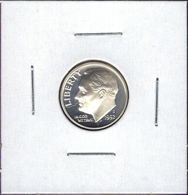 1992-S 90% Silver Deep Cameo Proof Roosevelt Dime