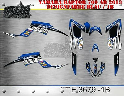 Motostyle-Mx Dekor Kit Atv Yamaha Raptor 700 Ab 2013+ Graphic Kit E3679 B