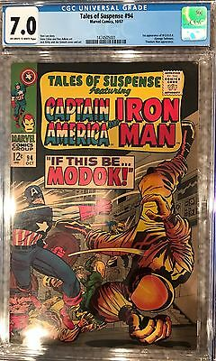 TALES OF SUSPENSE #94 CGC 7.0 OW/WP! 1st APPEARANCE OF MODOK