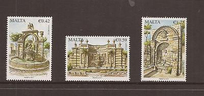 Malta 2013 Fountains Mnh Set Of Stamps