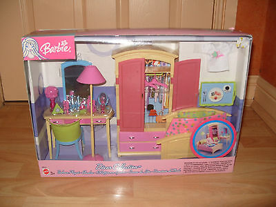 VERY RARE 2003 Barbie Decor Collection Bedroom Playset