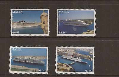 Malta 2008 Cruise Liners Mnh Set Of Stamps